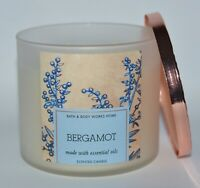 BATH & BODY WORKS BERGAMOT SCENTED CANDLE 3 WICK 14.5OZ LARGE GRAPEFRUIT LEMON