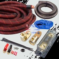 1/0GA GAUGE AWG 100% SNAKESKIN OFC COPPER POWER AMP KIT AMPLIFIER WIRING INSTALL