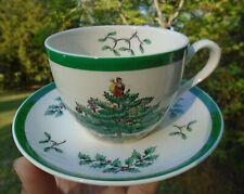 Spode England S3324 S Christmas Tree 33 Tea/Coffee/ Eggnog Cup and Saucer Set