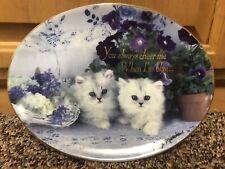 New ListingFranklin Mint Heirloom True Blue Friends Cat Collector Plate By Nancy Matthews
