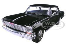 1964 CHEVROLET NOVA SS BLACK 1/25 DIECAST MODEL CAR BY NEW RAY 71823 B