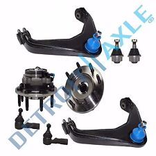2 Front Upper Control Arms + Wheel Bearing And Hub Assembly Set 4x4 - 8-Lug