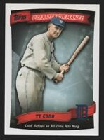 2010 TOPPS PEAK PERFORMANCE #50 TY COBB