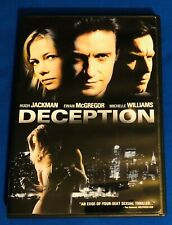 Deception DVD Hugh Jackman Ewan McGregor Michelle Williams