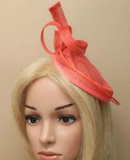 Large Coral Aliceband Hat Fascinator Hatinator Headband Royal Ascot Ladies Day