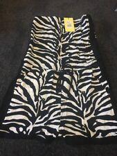 BNWT Bardot Zebra Strapless Playsuit Size 6