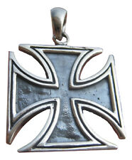 925 Silver Knight Knights Iron Cross Templar Pendant Jewelry art A12