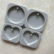 Round Heart shape Aromatherapy Silicone h293 Molds Holes 4 Candle Wax Soap For