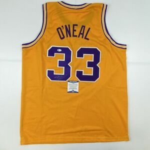 Autographed/Signed SHAQUILLE SHAQ O'NEAL LSU Yellow College Jersey Beckett COA