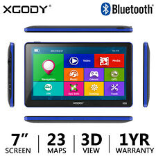 "XGODY 7"" Touch Screen Car Truck Bluetooth GPS Navigation 256+8GB Free US Map"