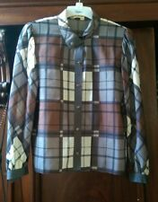 vintage jersey masters wool shirt blouse  check S/M
