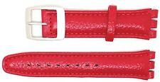 Nuevo Reemplazo de tamaño 19mm (22mm) Correa De Cuero Reloj Compatible Para Swatch ® Rojo