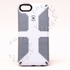 Speck CandyShell Grip Thin Hard Snap Cover Case For iPhone 5c - White/Gray New