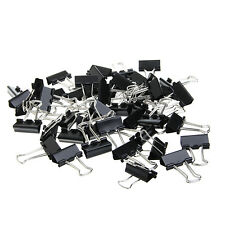 48Pcs 25mm Black Metal Binder Clips File Paper Clip Office Supplies