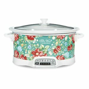 The Pioneer Woman Vintage Floral 7-Quart Programmable Slow Cooker