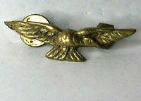 WW2 RAF Royal Air Force Brass Eagle badge screw back 50 x 12 mm
