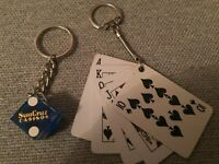Lot of (2) SunCruz Casino Key Chains