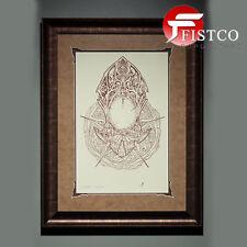 COURT OF THE DEAD - Death Mask Letterpress Art Print - gerahmt (Sideshow)