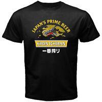 Kirin Ichiban Japan's Prime Beer Brewery Alcohol Suntory Black T-shirt Siz S-5XL