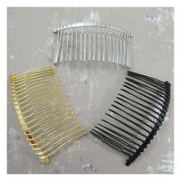 "METAL HAIR COMBS ""3 COLOURS"" BRIDAL ACCESSORIES FASCINATOR TIARA MILLINERY"