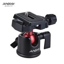 Andoer Mini Ball Head Ballhead Tripod Stand Adapter+Quick Release Plate f. Canon