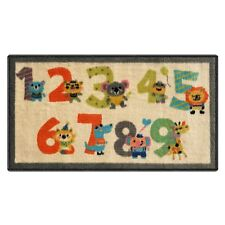 Silk & Sultans Agathe Collection Kids Numbers Design, Pet Friendly Doormat
