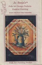 JO SONJA JANSEN Blue Pot & Tulips Composition Fraktur Painting Pattern Packet