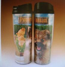 NEW Pomerian Dog 18oz Acrylic Travel Tumbler Coffee Cup Mug by Americaware (Q)