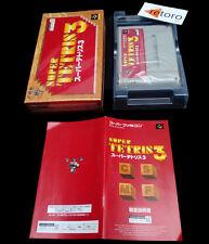 SUPER TETRIS 3 Super Famicom Nintendo SNES COMPLETO Jap Muy Buen estado