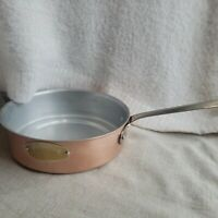 "Vintage De la Cuisine 8"" Copper Sauce Pan/Pot No Lid and 8"" Handle 2.5"" Deep"