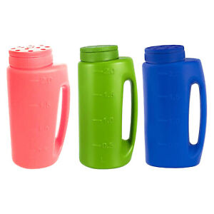 Handheld Portable Fertilizer Spreader Gardening Salt Seeding Bottle Ice Melt