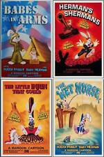 WHO FRAMED ROGER RABBIT one sheet movie posters x4 MAROON CARTOON 1988 27x40