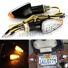 UNIVERSAL MOTORCYCLE 14 CLEAR LED TURN SIGNALS INDICATORS BLINKER LIGHT SPORTS