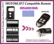 Motorlift 4330EML / 4333EML / 43335EML compatible mando a destancia, 433,92Mhz