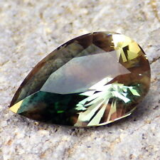 GREEN-TEAL SCHILLER OREGON SUNSTONE 5.23Ct FLAWLESS-FOR TOP JEWELRY/INVESTMENT