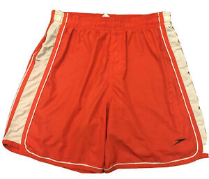 SPEEDO Hydrovolley Men's Swimsuit Large Jammer Liner Red Gray Swimming Trunks