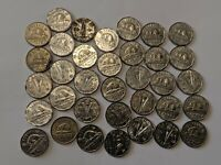 35 LOT CANADA FIVE CENTS COINS 1945 & MORE