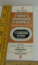 1974 Times Indoor Games track meet ticket Full STEVE PREFONTAINE press box