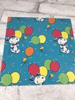 "Vintage Hallmark Snoopy Shulz Happy Birthday Gift Wrapping Paper Sheet 20x30"""