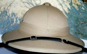 """Reduced British Safari Hand Crafted Woven Straw Tan Color """"Pith""""  Sun Helmet"""
