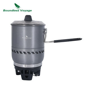 Outdoor Cooking System Camping Stove Windproof with Heat Exchanger Pot Gas Stove