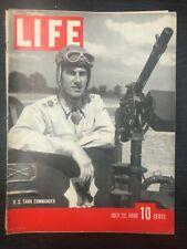 LIFE Magazine: U.S. Tank Commander, July 22nd 1940