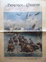 La Domenica del Corriere 19 Maggio 1940 WW2 Contraerea Indie Giro Italia Belgio