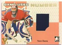 2006-07 ITG Heroes & Prospects Game-Used Number Yann Danis Vault Gold 1/1