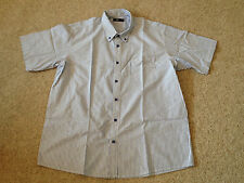 Cotton Traders Blue / White  Striped Casual Shirt Adult XL (N)
