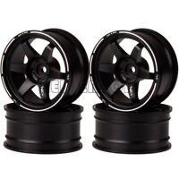 4P BLACK Aluminum 6MM Offset Wheel Rim For RC 1/10 On-Road Drift Traxxas HPI HSP