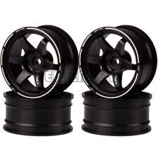 4P BLACK Aluminum 9MM Offset Wheel Rim For RC 1/10 On-Road Drift Traxxas HPI HSP