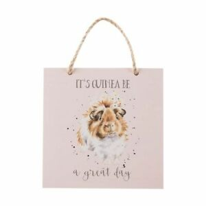 Wrendale Wooden Plaque Guinea Pig Its Guinea Be A Great day