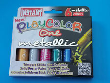 Playcolor One Metallic Solid Paint Sticks childrens paints craft Pack of 6