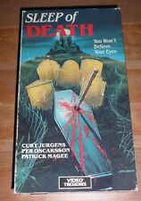 Sleep of Death (1985 VHS) RARE OOP Horror Unrated FREE DVD
